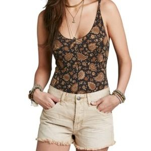 Free People Scooped Up Paisley Bodysuit